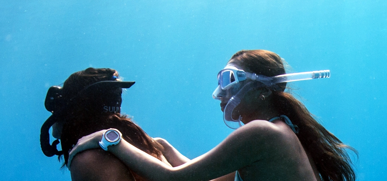 Freedivers with the best masks