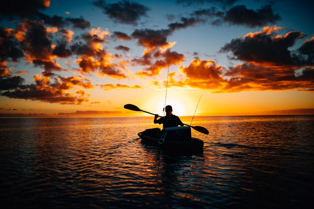 Kayak fishing and spearfishing