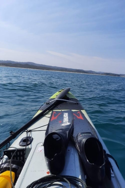 Spearfishing Kayak Trip Bow view